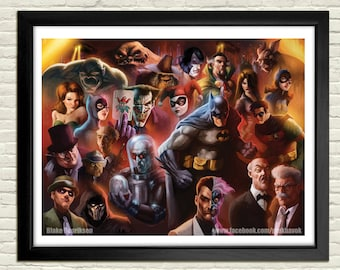 Batman: The Animated Series Poster- Signed and Numbered Limited Edition