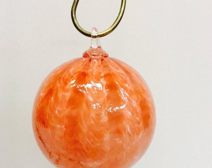 SALE ~ Hand Blown Peach Ornament