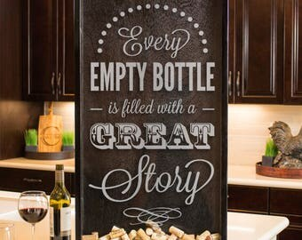 Wine Shadow Box, Wine Art, Wine Sign, Wine Box, Memento Gift, Wine Décor Gift, Wine Cork Display Case, Wine Cork Frame, Wine Cork Storage