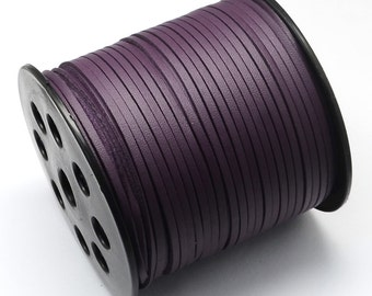 15ft Dark Purple Cord Leather Like 3mm( No.614)