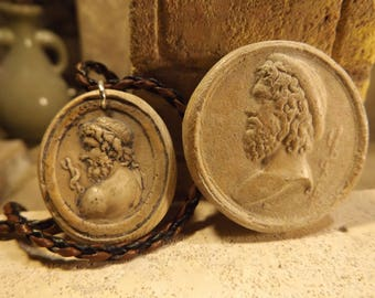Asclepius - Greek / Roman god of Medicine and healing. Amulet & necklace