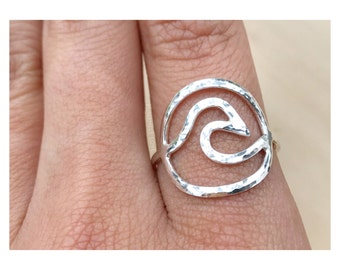 Everlasting Wave Ring - Wave Ring - 14k gold filled OR sterling silver - Gold Wavd Ring - Silver Wave Ring