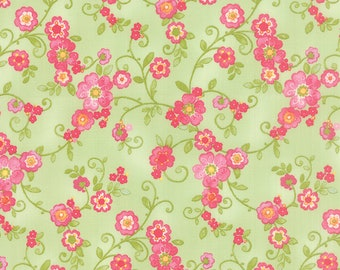 Green and Pink Floral, Colette Floral from Chez Moi for Moda