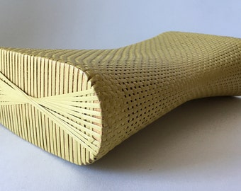 Vintage Woven Bamboo Neck Pillow from Vietnam