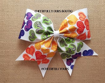 Best and Trending Customized Unique Glitter Sparkle Cheer Bow by CHEERFULLY OURS BOUTIQ