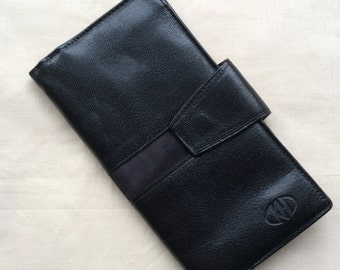 Vintage black leather wallet.