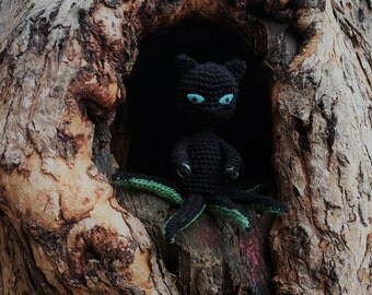 Octocat / Octopus Cat / geek doll / Lovecraft cat / Cthulhu cat / Ulthar cat / Steampunk cat / Victorian cat /  7 1/2 ''