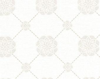 High Tea Medallions Cream by Lecien (31382-10) Cotton Fabric Yardage