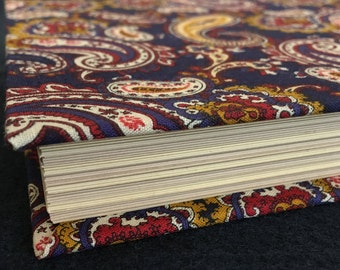 Handmade Blank Sketchbook with Paisley Hardcover