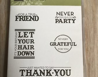 Destash New Stampin Up Let Your Hair Down Stamp Set
