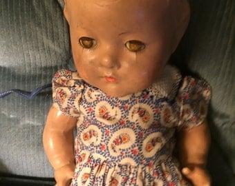 """Vintage Alexander Dionne """"Emilee""""  13"""" Composition Doll"""