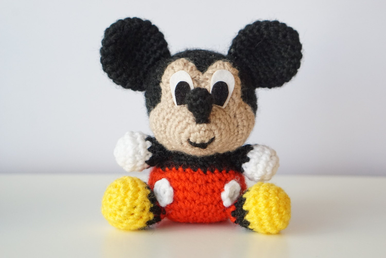 Amigurumi Disney Tutorial : MICKEY Mouse Disney Amigurumi Pattern Baby Easy DIY PDF