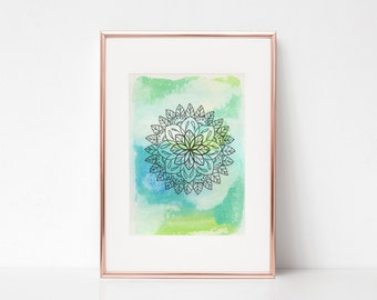 Mandala Wall Hanging - Mandala Home Decor - Mandala Wall Decor - Yoga Wall Art - Boho Room Decor - Zen Decor - Mandala Poster Print