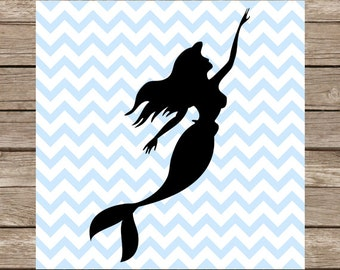 Little Mermaid SVG Disney SVG File Ariel The Little Mermaid Cutting File DXF Cricut Silhouette Cameo Cut File
