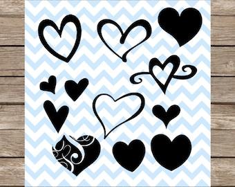 Hearts Svg Heart svg Love svg Valentine svg valentines Day svg svg files cut file DXF svg File for Cricut Silhouette cameo svg designs