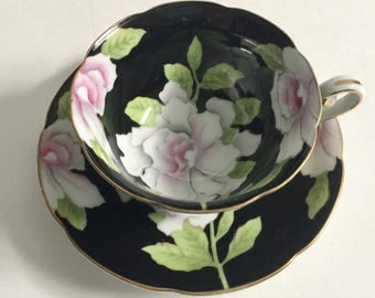 Hand Painted Occupied Japan Tea Cup and Saucer Teacup Set