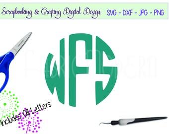 CIRCLE MONOGRAM, Round monogram Font, LETTERS, Silhouette font, Cricut svg cutting file, svg,dxf,png,jpg,pdf,  #C118