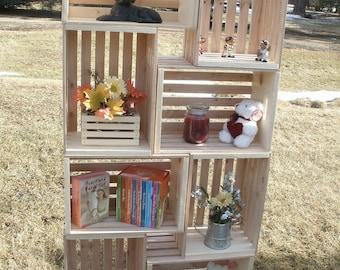 "wood crate, 18"" wooden crate, storage crate, decorative crate crate decor"