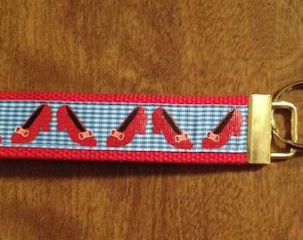 Wizard Of Oz Ruby Slippers Key Chain Zipper Pull