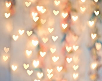 Newborn Bokeh Photography Backdrops Twinkling hearts lights photo props for Children birthday party photography Glitter backdrop D-4127