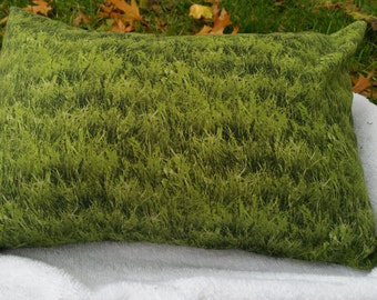 Grassy Meadow green print Dream Sleep Pillow, Unisex print for man or women, home spa experience, sleep aid, aromatherapy.