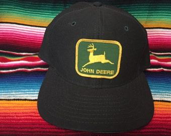 VTG Deadstock Forest Green John Deere snapback hat