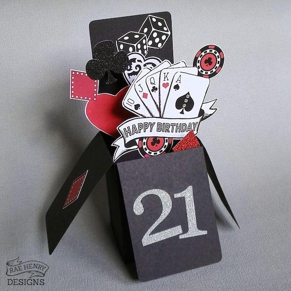 Casino Poker Vegas Birthday Card 3D Pop Up Rockabilly Tattoo – Poker Birthday Cards