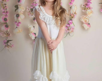 Ivory Lace Peasent Dress