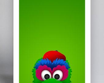Minimalist Mascot - Phillie Phanatic - Philadelphia Phillies