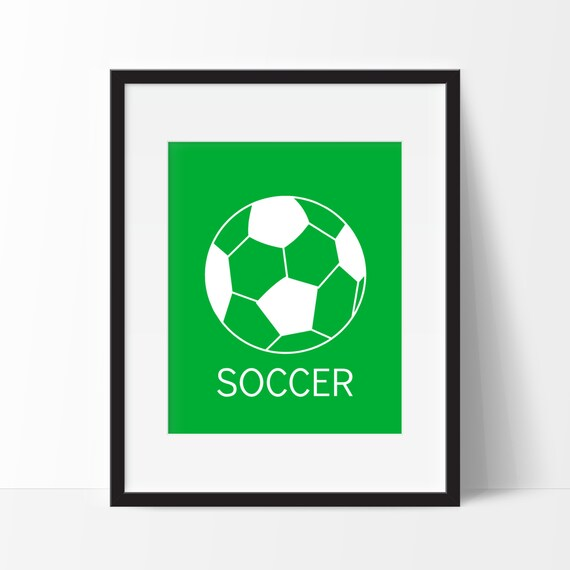 soccer wall art modern wall decor nursery decor. Black Bedroom Furniture Sets. Home Design Ideas
