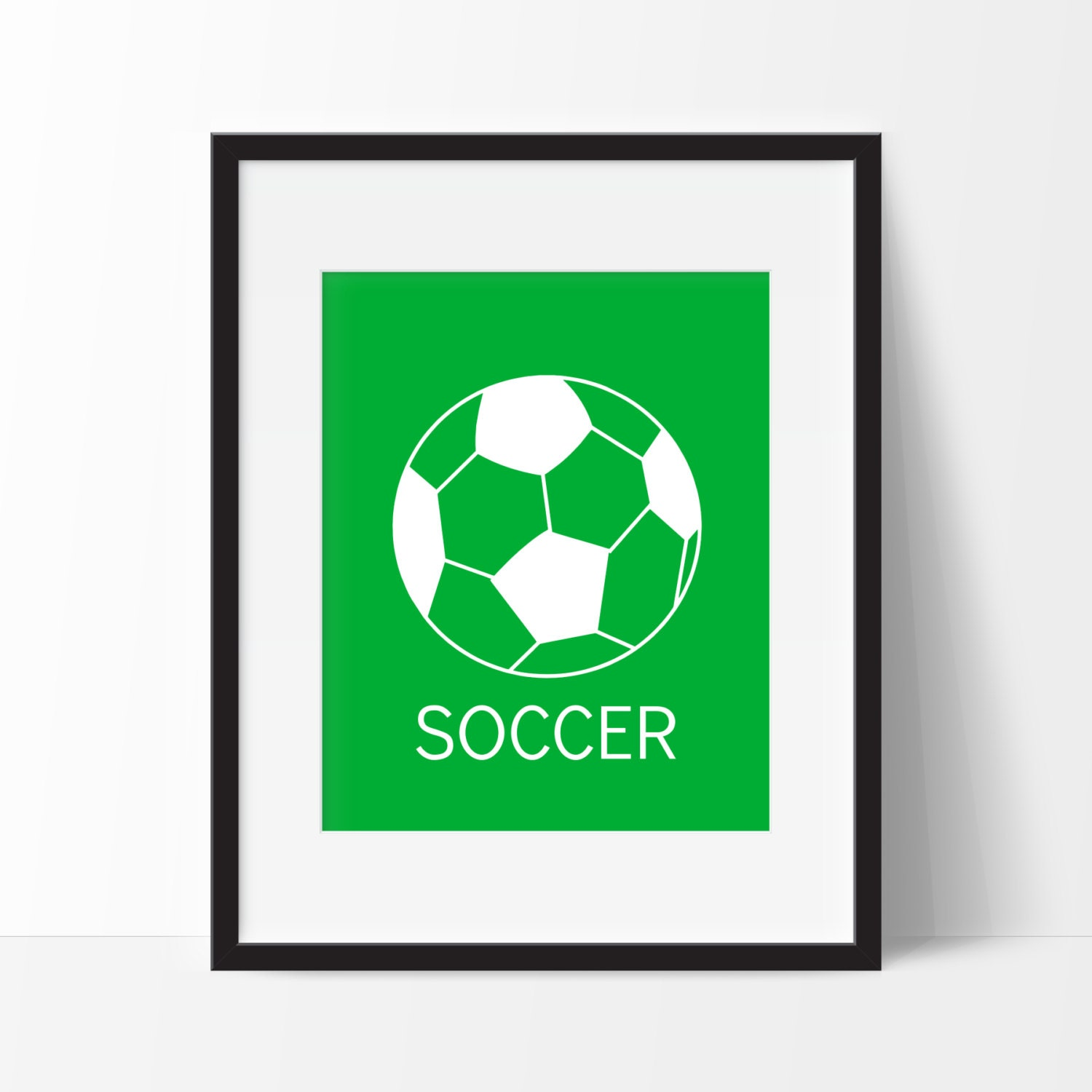 Soccer Wall Art Modern Wall Decor Nursery Decor