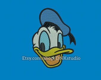 Disney Donald Duck Face Embroidery Design - 5 Sizes - INSTANT DOWNLOAD
