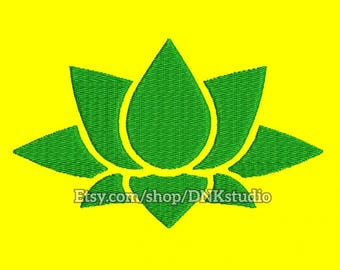 Lotus Flower Yoga Embroidery Design - 5 Sizes - INSTANT DOWNLOAD