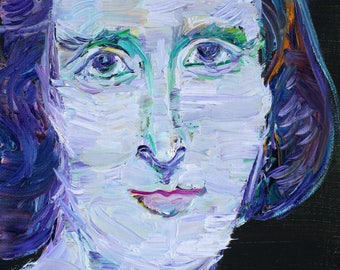 MARY SHELLEY - original oil portrait - one of a kind!