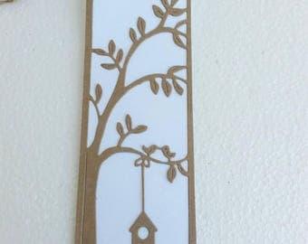 Lovebirds Paper Bookmarks. Bookmarks Wedding Favors. Party Favors. 25 pcs.