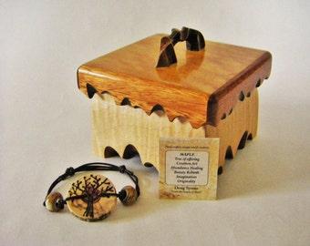 Bracelet box, 5th Anniversary, Jewelry Box, Watch box, One Of A Kind