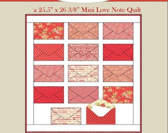 Quilt Pattern - Share the Love Mini Quilt Pattern (Full-Color PDF Pattern), Valentines Day Quilt, Advent Calendar, Mini Quilt