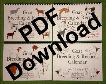 FAINTER - PDF file - Goat Breeding and Records Calendar - Jan-Dec2017