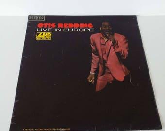 Rare Vintage 1967 Otis Redding Live In Europe LP Vinyl Record Australian 1st Pressing Funk Soul