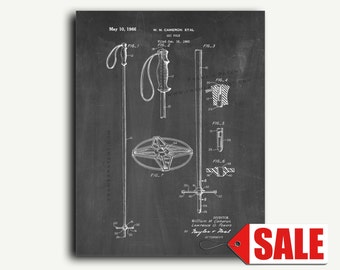 Patent Print - Ski Pole Patent Wall Art Poster