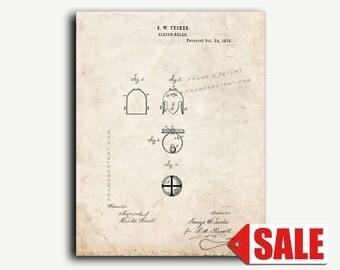 Patent Print - Sleigh Bells Patent Wall Art Poster