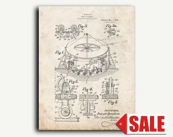 Patent Art - Merry-go-round Patent Wall Art Print