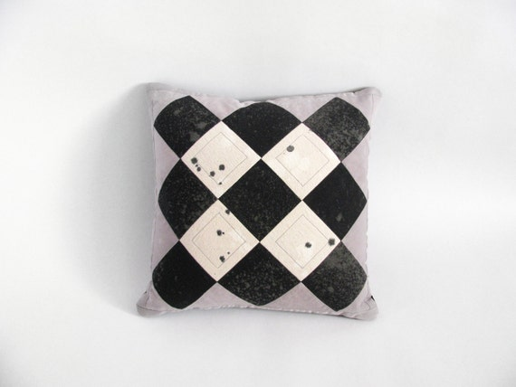 Diamonds Patchwork Pillow