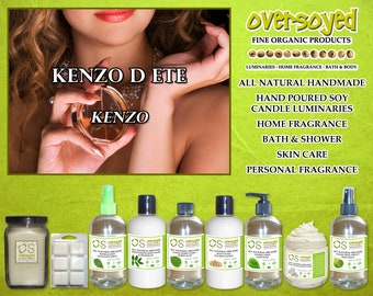Kenzo D Ete for Women (Compare To Kenzo) - OverSoyed Organic - Scented Soy Candle, Oil, Lotion, Wax, Balm, Spray, Gel, Wash