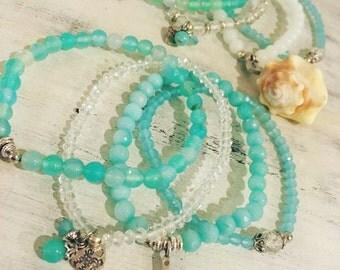 Aqua bracelet set