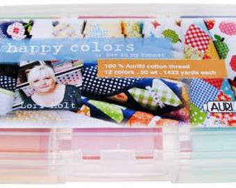 Happy Color by Lori Holt for Aurifil 50 Wt Set of 12