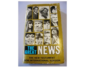 The Great News New Testament 1978  New York Bible Society International Rare New Testament Religious Book Vintage New Testament 108