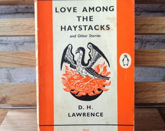 Vintage Penguin paperback DH Lawrence Love Among the Haystacks & other stories society love erotic tragedy romance rare book