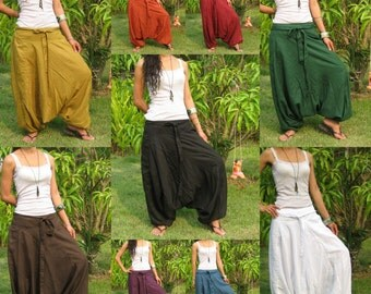Harem Pants Women Baggy Pants Aladdin Yoga Pants Harem Baggy Pants Men Gypsy Pants Harem Boho Pants* Free Shipping * HL