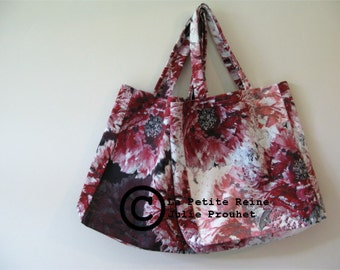 hand bag, Peony black or white